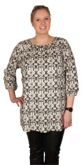 Zhenzi - Sweet tunica with 3/4 sleeves in a-shaped