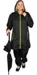 Piece Of Cake - Long rain jacket with zipper and 2 pockets with zipper
