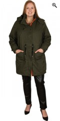 Cassiopeia - Beate army parka coat with detachable cap