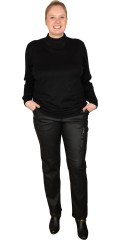 Cassiopeia - Classic thin knit blouse with turtelneck