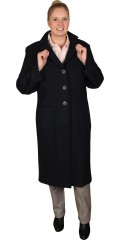 Q´neel - Casual coat in exclusive combed wool/viscose. All-buttoned, with 2 pockets