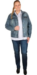 Juna Rose (Bestseller) - Denim jacket with 2 chest pockets, smart cut and really good stretch