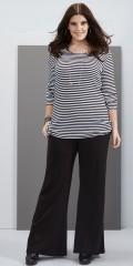 Zhenzi - Jersey pants med elastik i hele taljen