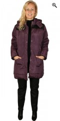 Zhenzi - Jacket with detachable cap and wind stop at the sleeves also leather look over the shoulder