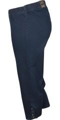 Zhenzi - Jazzy stumpe bukser med elastik i hele taljen og smarte knapper i benene