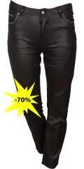 DNY (Marc Lauge) - Flott bukse i lett coated materiale, mody fit med power strekk og variabel strikk i taljen