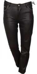 DNY (Marc Lauge) - Flott bukse i lett coated materiale, mody fit med variabel strikk i taljen