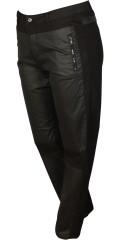 DNY (Marc Lauge) - Smart mody byxor med streck och justerbar gummiband i midjan