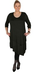 Cassiopeia - Desire dress in layer on layer with light v cutting and 3/4 sleeves