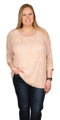 Cassiopeia - Lace top with 3/4 sleeves