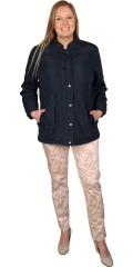 Zhenzi - Lækker overgangs jakke med rib strik i siderne
