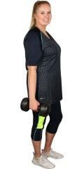 Studio - Fitness capri med line og strikk i hele taljen