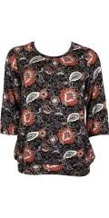 Zhenzi - Bluse med rund hals og 3/4 ærmer
