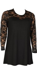 Zhenzi - Tunica with lace in top and the sleeves