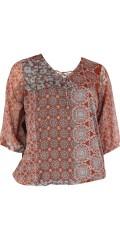 Zhenzi - Bluse med elastik i bund og ærmer