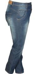 Zhenzi - Salsa normal fit jeans med strech og regulerbar elastik i taljen