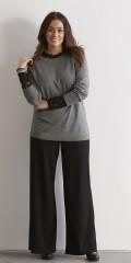 Zhenzi - Jersey pants med bred rib foroven. strechy materiale og vidde i benene