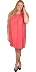 DNY (Marc Lauge) - Så är den tillbaka: becca tunika/klänning med vacker virkad hals och virkade ärmar