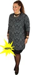 Cassiopeia - Cisca klänning tunika med 3/4 ärmar