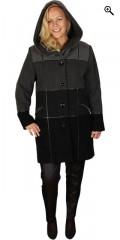 Handberg - Lyx ull jacka med 2 fickor som avslutas med blixtlås och hätta