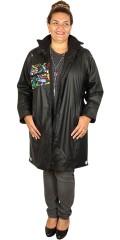 Handberg - Superflot varm kvalitets regnfrakke med quiltet foer