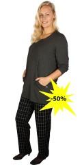 Handberg - Weiche casual Hosen mit Elastik in ganze die Taille