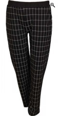 Handberg - Soft casual pants with rubber band in whole the waist
