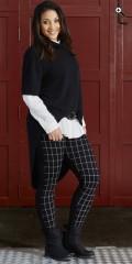 Handberg - Fjernlager luk 0417 leggings mit elastik in ganze die taille