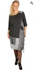 Handberg - Super smart kjole i forskellige typer stof og rigtig mange detaljer