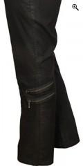 Que (Godske Group) - Que bukser, coated super strech med fantastisk pasform, smarte pynte lynlås på benene