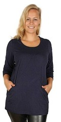 Q'neel - Stylish q-neel tunica in quality viskose-jersey, round neck also 2 pockets
