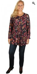 Q´neel - Q-neel tunica/blouse in super nice print and in trumpet shape