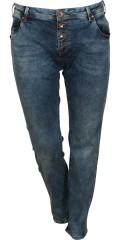 Zizzi - Schlank Jeans Modell sanna mit Stretch und Gurtträger. Schrittlänge 86 cm.