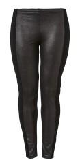 Q´neel - Cool q-neel leggings, imitert skinn foran og bak heavy strekk jersey, strikk i taljen