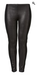 Q´neel - Cool leggings, imitated fur front and back heavy stretch jersey, rubber band in the waist