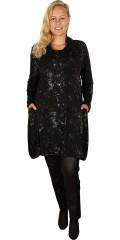 Q´neel - Q-neel tunika / kjole med lange ærmer og flot krave samt 2 lommer