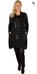 Q´neel - Q-neel Tunika/Kleid mit lange Ärmeln und hübsch Kragen sowie 2 Taschen