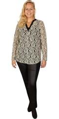 One More (Handberg) - Blonde genser/tunika med stolpe lukning og i super strekk