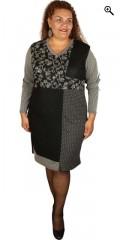 One More (Handberg) - Super smart kjole med let v-hals og lange ærmer