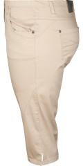 Zhenzi - Bermuda twist bukser med 5 lommer og elastik i hele taljen
