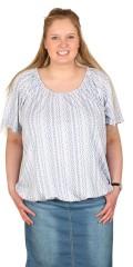 Zhenzi - T-shirt med rund hals og elastik forneden