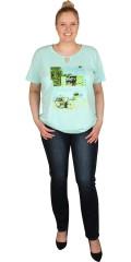Zhenzi - T-shirt med rund hals og afsluttes i med elastik forneden
