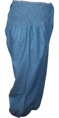 Zhenzi - Stumpe bukser med smock i taljen og ekstra vidde i benene