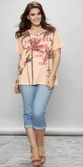 Zhenzi - T-shirt med korte ærmer og flot motiv
