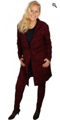 Gozzip - Cardigan/jacket in super stretch and with 2 sloping pockets