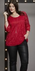 Zhenzi - Blonde bluse med 3/4 ærmer