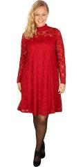 Zhenzi - Spetsklänning med långa ärmar och kinakrage som knappes i nacken