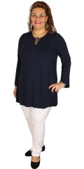 Zhenzi - Tunica in a-shaped with long sleeves