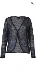 Zhenzi - Bolero with long sleeves in fine knit and with silver thread