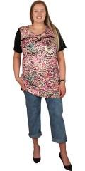 Handberg - T-shirt med korte ermer og smart detalje ved halsen